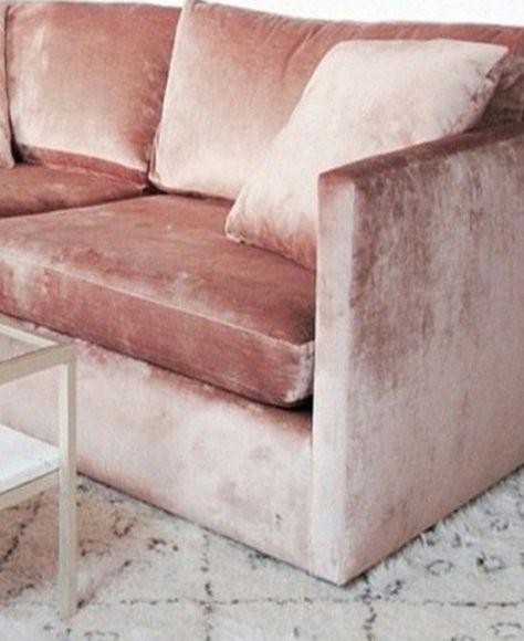 Pink velvet sofa 1