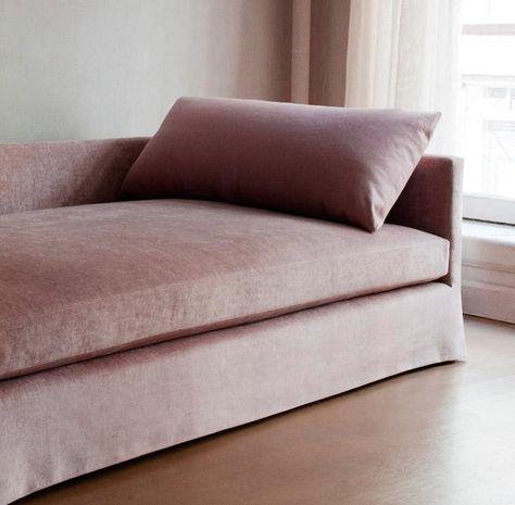 Pink velvet sofa 10