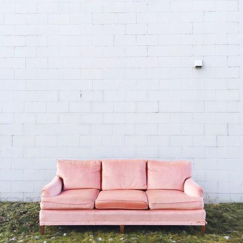 Pink velvet sofa 12