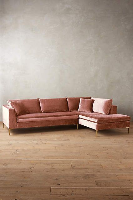 Pink velvet sofa 2