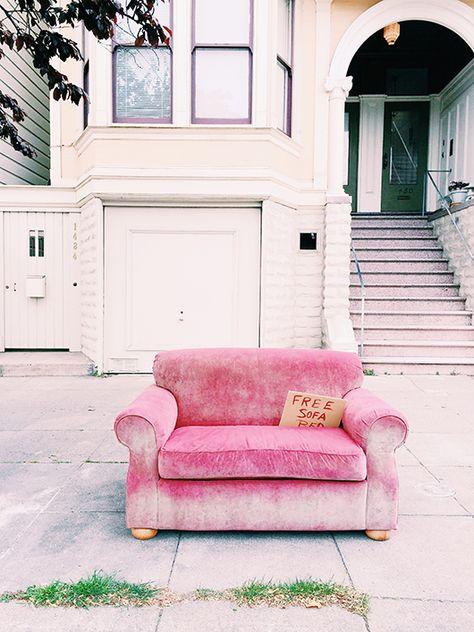 Pink velvet sofa 3