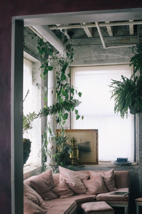 Pink velvet sofa 4