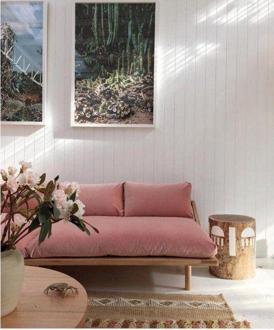 Pink velvet sofa 5