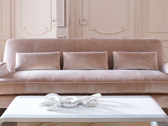 Pink velvet sofa 6