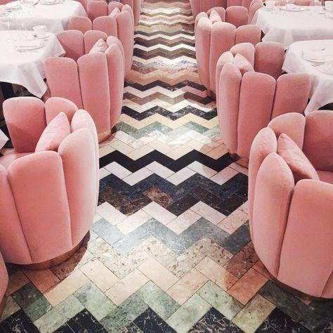 Pink velvet sofa 9